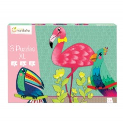 PUZZLES XL ANIMAUX A PLUMES